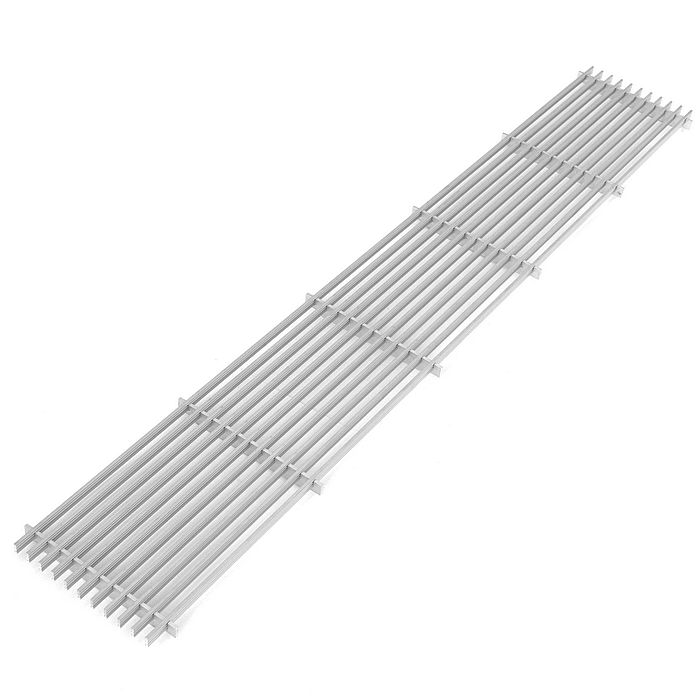 LGA series aluminum lateral grilles, natural, for itermic in floor trench convectors