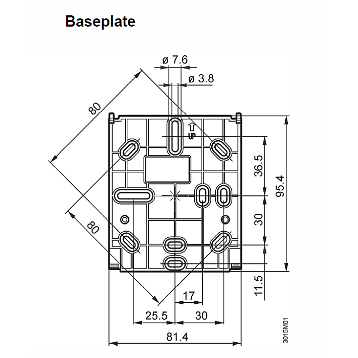 RAA31 thermostat dimensions