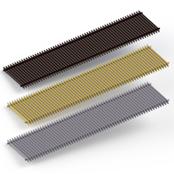 SGW series nut-brown and wenge itermic convector grilles, SGA series natural