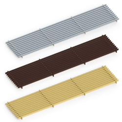 itermic trench convector LGA series lateral grilles, natural